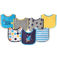 Baby Vision Luvable Friends 7 Pack Drooler Bibs - Rocket