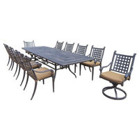 Oakland Living Corp. Rosemont 11-Piece Aluminum Patio Dining Furniture Set