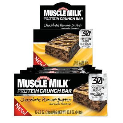 CytoSport Muscle Milk Protein Crunch Bar, Chocolate Peanut Butter, 12 ea