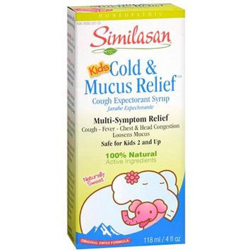 Similasan Kids 2-12 Cold and Mucus Relief Cough Expectorant Syrup
