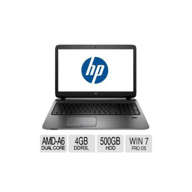 HP ProBook 455 G2 Notbook PC - AMD A6 Pro-7050B with with Radeon R4 Graphics, 2.2 GHz, 4GB Memory,500GB HDD, 15.6