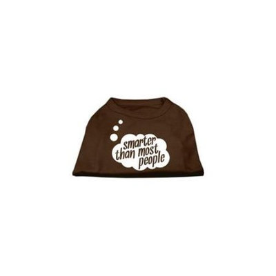 Ahi Smarter then Most People Screen Printed Dog Shirt Brown Med (12)