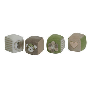 The Children's Factory Organic Cuddly Blocks (Set of 4)