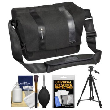 Vanguard Vojo 28 Digital SLR Camera Shoulder Bag (Black) with Tripod + Cleaning Kit