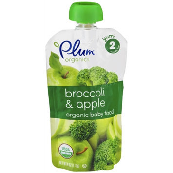 Plum Organics Baby Food Broccoli/Apple