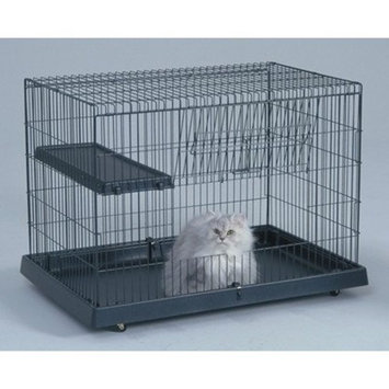 General Cage Cat Domain Crate w Plastic Base, 36