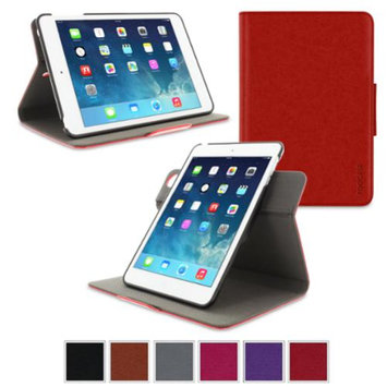 Apple iPad Mini 3 (2014) Case - roocase Orb System Folio 360 Dual View Leather Case Smart Cover with Sleep / Wake Feature for Apple iPad Mini 1 2 3 (2014) Red - Patented Complete Lifestyle Solution