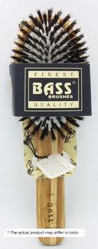 Bass Brushes Brush - Large Oval Cushion Style 100% Wild Boar Bristles Beveled Light Wood Hand