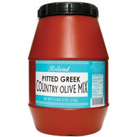 Roland Pitted Greek Country Olive Mix, 4 lb. 6 oz. Jar