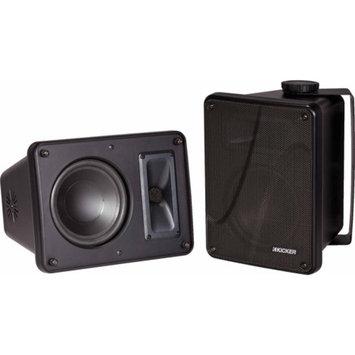Kicker Full-Range Indoor/Outdoor Speakers, Black