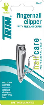 Trim Small Fingernail Clipper With File And Chain Item 00447