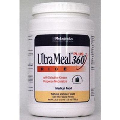 Metagenics Ultrameal Plus 360 Rice Supplement, Vanilla, 28.5 Ounce