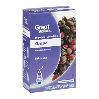Great Value : Grape Drink Mix