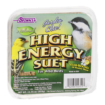Brown's Garden Chic! High Energy Suet For Wild Birds