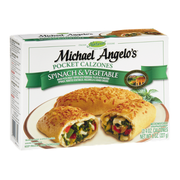 Michael Angelo's Spinach & Vegetable Pocket Calzones - 2 CT