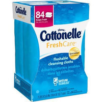 Cottonelle Fresh Care, Flushable Cleansing Cloths, 84 Sheets (Pack of 2)