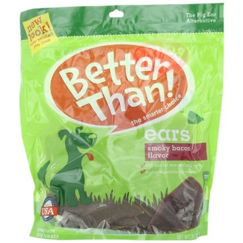 Better Than Ears Premium Dog Treats, Smoky Bacon Flavor- 36-Count Pouch, Net Wt. 31.1oz