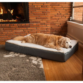 Snoozer Super Thick Ortho-Lounger Dog Bed Hazelnut Cream Sherpa Top, Size: Large