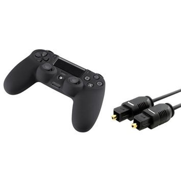 Insten INSTEN 3FT Digital Optical Audio TosLink Cable-Molded+Black Case for Sony PS4