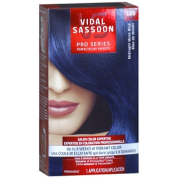Vidal Sassoon Pro Series Hair Color, 1BB Midnight Muse Blue, 1 kit