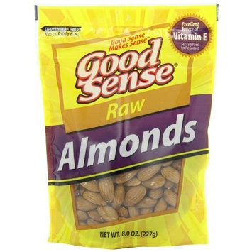 Good Sense Almonds, Raw, 8-Ounce Bag (Pack of 3)
