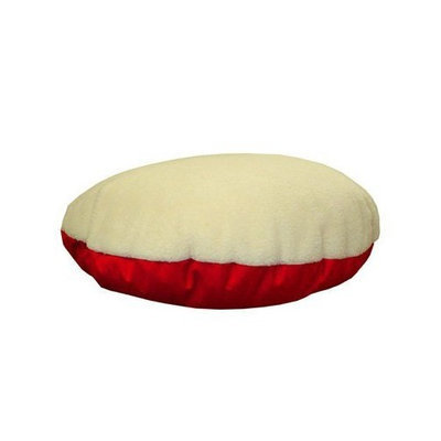 Majestic Pet Products  Majestic Pet 788995662419 40 in. Medium Round Pet Bed- Red-Faux Sheepskin