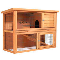 Smithbuilt Crates SmithBuilt 48 in. Wooden Two Story Rabbit Hutch
