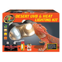 Zoo Med ZOO MEDTM Desert UVB & Heat Lighting Kit