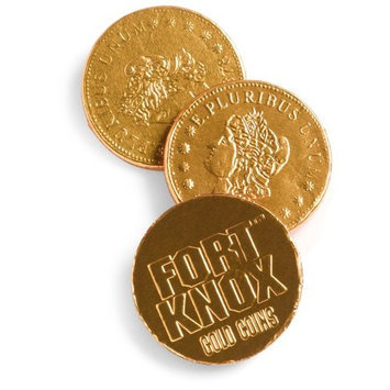 Fort Knox Milk Chocolate Gold Coins, 1.61-Pounds, 144 Pieces, Bucket