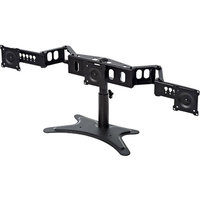 DoubleSight Displays DoubleSight Triple Monitor Flex Stand - 20lbs Weight Capacity (Per Monitor), 3x 22