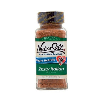 NutraSalt Zesty Italian, 3-Ounce Containers (Pack of 6)