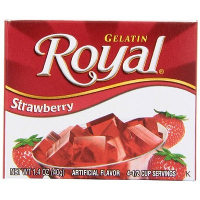 Royal Gelatin, Strawberry, 1.4-Ounce (Pack of 12)