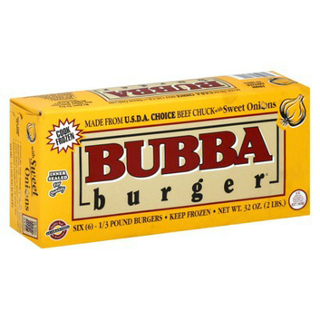 Bubba Burger Beef Chuck with Sweet Onions Burgers 6 ct