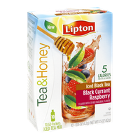 Lipton Tea & Honey Black Currant Raspberry Iced Black Tea To-Go Packets 10 ct