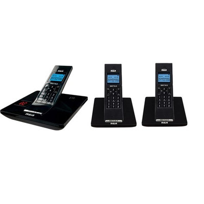 GE/RCA 2132-3BKGA DECT Cordless Phone with 2 Extra Handsets