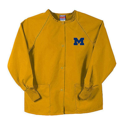 Gelscrubs NCAA Big Ten - Snapfront Scrub Jacket with Pockets