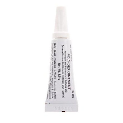 Neomycin/polymyxin/dexameth Neo/Poly/Dex Ophthalmic Ointment [Options : (Dexasporin) 3.5 Grams]