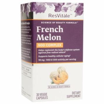 ResVitale French Melon SOD Complex, Veggie Capsules, 30 ea