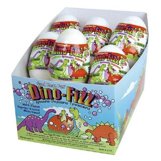 Smith & Vandiver Good Clean Fun Dino-Fizz Bath Eggs Assortment, 12 ea