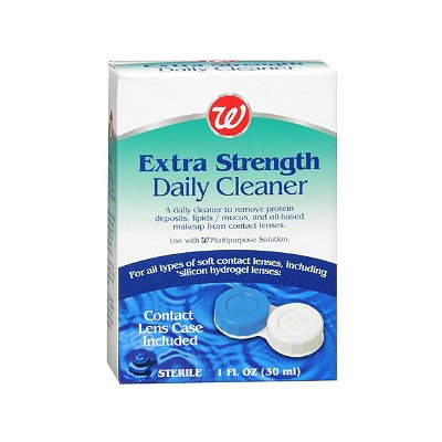 Walgreens Extra Strength Daily Contact Lens Cleaner