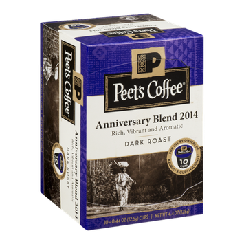 Peet's Coffee Dark Roast Anniversary Blend 2014 - 10 CT