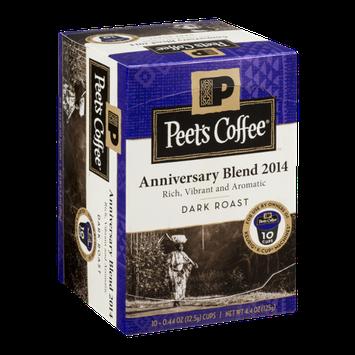 Peet's Coffee Dark Roast Anniversary Blend 2014 - 10 CT