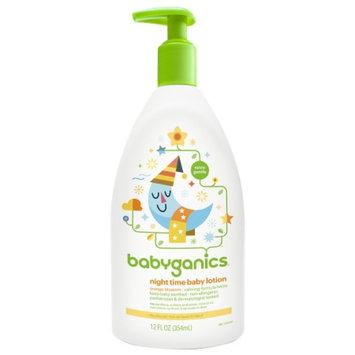 Babyganics Night Time Baby Lotion, Natural Orange Blossom, 12 fl oz