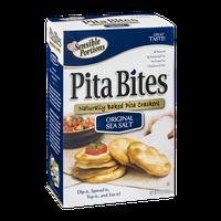 Sensible Portions Pita Bites Baked Pita Crackers Original Sea Salt
