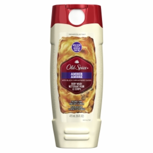 Old Spice Fresher Collection Men's Body Wash, Amber, 16 fl oz