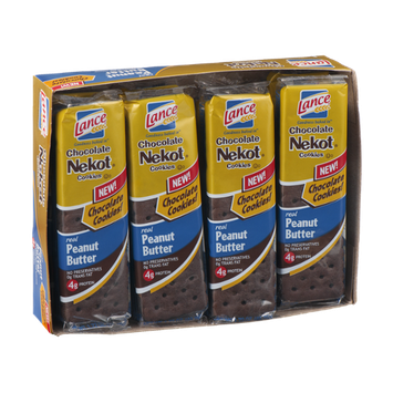 Lance Chocolate Nekot Cookies Peanut Butter Pack - 8 CT