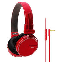 iLuv ReF Deep Bass Canvas On-Ear Headphones - Red