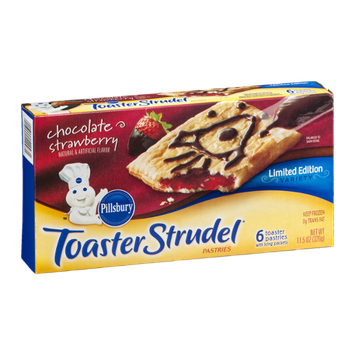 Pillsbury Toaster Strudel Pastries Limited Edition Chocolate Strawberry - 6 CT