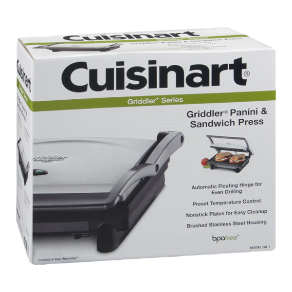 Cuisinart Griddler Panini & Sandwich Press Griddler Series