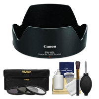 Canon EW-83L Lens Hood for EF 24-70mm f/4L IS USM with 3 UV/ND8/CPL Filters + Accessory Kit